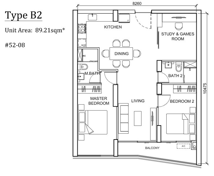 The Peak Cambodia Floor Plan B2